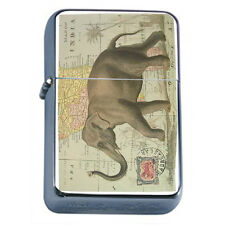Vintage Poster D3 Windproof Dual Flame Torch Lighter Elephant on Map of India