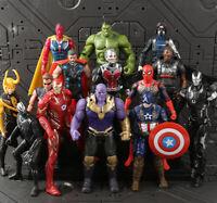 Avengers Action Figures Toy Set 14 Pcs Hero - IronMan Hulk Spiderman Thanos Thor