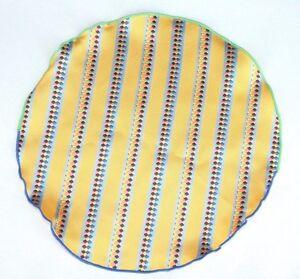 Lord R Colton Masterworks Pocket Yellow Striped Survival Silk - $75 Retail New