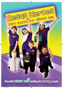 first aid manual for children Resus Heroes, a4 book, resuscitation skills