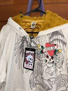 Ed Hardy by christian audigier jacket beige with Logo 2X
