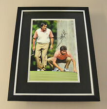 Jose Maria Olazabal Signed Framed 16x12 Photo Autograph Display Seve Memorabilia