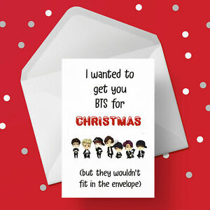 Funny Christmas Card with BTS - Free 1st class postage