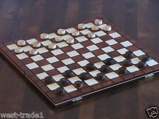 Hand Crafted Large Wooden Draughts/checkers Set 39cmx39cm