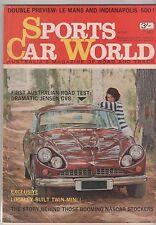 Sports Car World 1965 Jun Talbot Jensen CV8 Triumph TR4 Spitfire BMC GT Bathurst