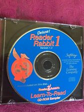 THE LEARNING COMPANY~deluxe version 1.2 READER RABBIT 1 age 3-6 1996 window~NEW