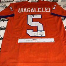 DJ UIAGALELEI CLEMSON CUSTOM FOOTBALL JERSEY SIGNED AUTOGRAPHED-BAS COA BECKETT