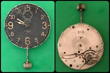 ZENITH-8 Jours-A.Cairelli Roma-military panel clock-not working-mechanical-rare