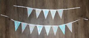 Silver and Teal One Banner, Gray & Blue Happy Birthday Banner, Boy, 1st Birthday