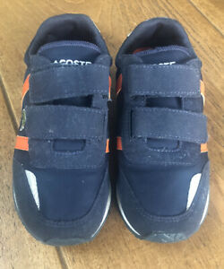 Lacoste Boys Trainers Size 13 Navy