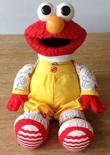 "Vintage Henson ELMO Doll Playskool Hasbro 15"" Sesame Street Muppets Plush Toy"
