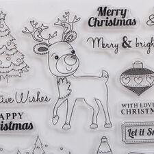 Weihnachten Deer Transparente Silikon Stempel für DIY Scrapbooking Foto Album