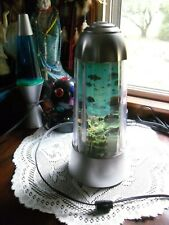 "VINTAGE FLOATING FISH LAMP ELECTRIC NIGHT LIGHT 13 1/2"" TALL"