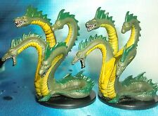 Dungeons & Dragons Miniatures Lot  Fen Hydra Pair Dragon Kin !!  s116