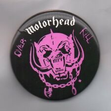 MOTORHEAD Over Kill LARGE BUTTON BADGE English Rock Band - Ace Of Spades  55mm