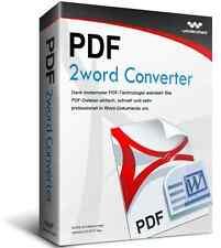 Wondershare PDF to Word Converter WIN lifetime dt.Vollvers.Download nur 14,99 !!