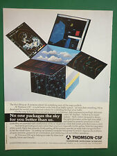 9/1990 PUB THOMSON CSF AIR TRAFFIC CONTROL SYSTEM CRT DISPLAYS ORIGINAL AD