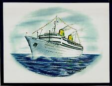 Original Art Work...ms GRIPSHOLM ...ocean liner....Swedish American Line