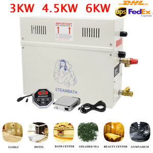 3.5-6KW Dampfgenerator Dusche Sauna Home Spa 6KW 220V EU für 3 m³ Raum