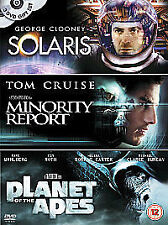 Solaris / Minority Report / Planet Of The Apes (DVD, 2004, 3-Disc Set, Box Set)