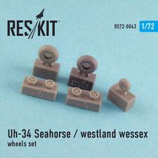 Uh-34 Seahorse / westland wessex (all versions) wheels set 1/72 ResKit RS72-0043