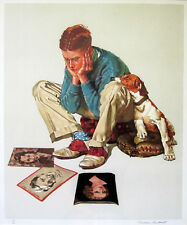 "NORMAN ROCKWELL Signed 1976 Original Color Lithograph - ""Star Struck"""