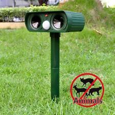 Solar Tiervertreiber Katzen Hunde Marderschreck Vogelabwehr Ultraschall Repeller