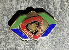 SKI TEST INTERNATIONAL Maple Leaf Resorts Sports Skiing Lapel Hat Pin ~ Canada