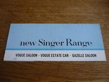 SINGER GAZELLE  AND VOGUE 1600 BROCHURE,