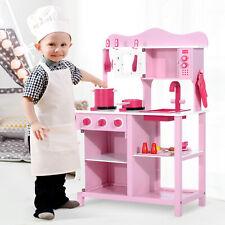 Cocina de Juguete para Niños Set Juego Cocinita Infantil Madera 60x30x84.5cm