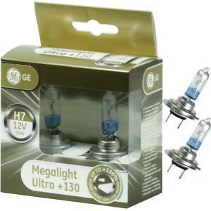 H7 GE MegaLight Ultra +130% 2 Birnen Abblendlich Autolampen Birne Fernlicht 5 AM