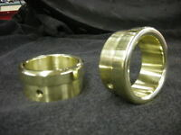 "BRASS EXHAUST TIPS FOR 1 3/4"" PIPES PAIR HARLEY RAT ROD BOBBER CHOPPER SHORTY"