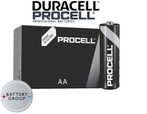 Duracell Industrial NOW PROCELL AA Batteries Alkaline MN1500 Expiry 2026 20 Pack