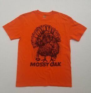 Mossy Oak Bright Orange Shirt with Turkey Graphic, Adult Size Medium. New!