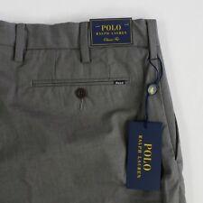 NEW POLO RALPH LAUREN CLASSIC STRETCH FIT DRESS PANTS MEDIUM GRAY MEN NWT