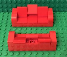 Lego X2 New Red Sofa Couches / Recliners Love seats MOC Home Interior Furniture