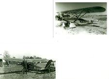2 VINTAGE B&W 5X7 HANSEN HEATH AIRPLANE RACERS 1931-32 PHOTOGRAPH SET #69