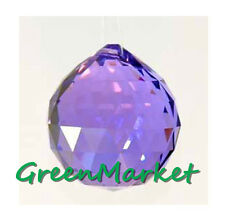 12 Pack 40mm Hanging Feng Shui Pendant Beads Glass Crystal ball-Purple