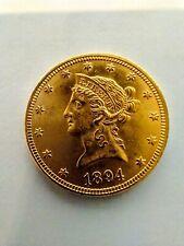 1894 Us $10 Liberty Head Gold Eagle Coin - No Reserve