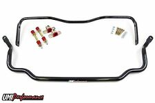 UMI Performance 64-72 GM A-Body Solid Front and Rear Sway Bar Kit - Black