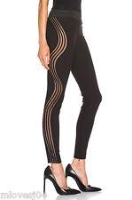 Stella Mccartney Negro Sheer Mesh Leggings Pantalones Vestido BNWT 10 lo 42 Rp £ 1295