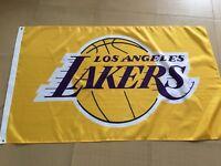 Los Angeles Lakers 3x5 Banner Flag Gold Basketball NBA Grommets Lebron Kobe New