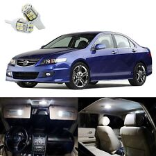 12 x Xenon White LED Interior Lights Package Kit For Acura TSX 2004 - 2008