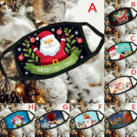 Adult Christmas Print Breathable Multi-Purpose Face Cover Reuse Mask Facemask UK