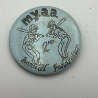 "Vintage MYAA Youth Athletic Assoc Fundraiser 2-1/4"" Pin Pinback Baseball N8"
