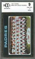 San Diego Padres Tc Team Card 1971 Topps #482 (Centered) BGS BCCG 9