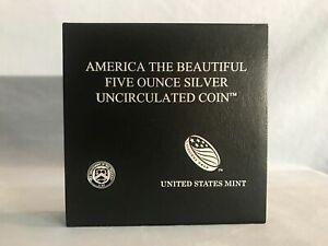 2018-P Ozark Rivers ATB 5 oz silver uncirculated coin w/ OGP Box & COA NICE