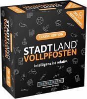 Stadt Land VOLLPFOSTEN - Das Kartenspiel - Classic Edition NEU