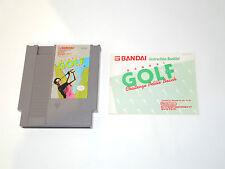 BANDAI GOLF Nintendo NES cartridge with manual NTSC videogame