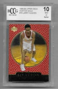 1998 99 UD Ovation Gold rc LARRY HUGHES rookie MINT Rookie /1000 bgs BCCG 10